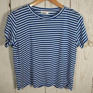 Katie Sturino x Stitch Fix Blue & White Stripe Tee